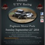 UTV RACE POPKUM MOTOR PARK SUNDAY SEPTEMBER 21st 2014